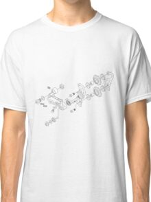 Exploded derailleur Classic T-Shirt
