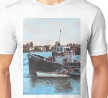 Old boats moored at St Denys Southampton Unisex T-Shirt