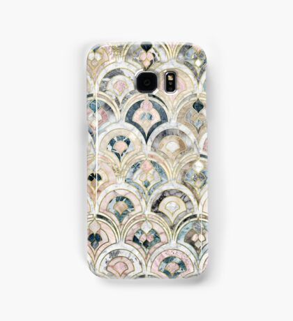 Art Deco Marble Tiles in Soft Pastels Samsung Galaxy Case/Skin