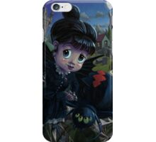 Goth girl fairy with spider widow iPhone Case/Skin