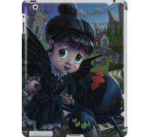 Goth girl fairy with spider widow iPad Case/Skin