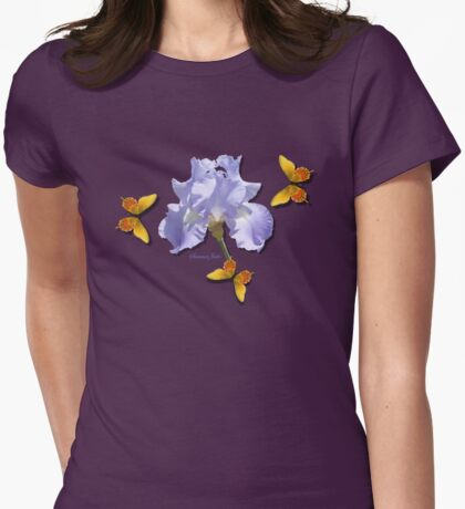 Chambray Elegance ~ This Iris Womens Fitted T-Shirt