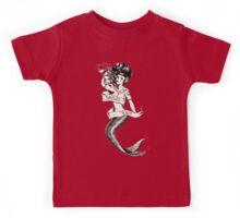 Sailors Ruin, Vintage mermaid tattoo style Kids Tee