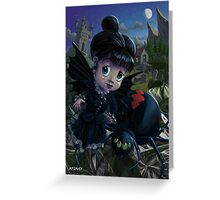 Goth girl fairy with spider widow Greeting Card