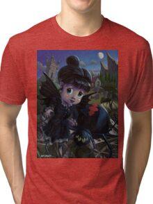 Goth girl fairy with spider widow Tri-blend T-Shirt