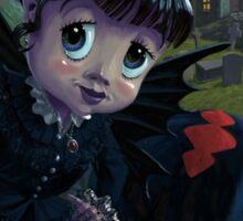 Goth girl fairy with spider widow Sticker
