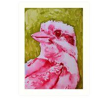 Kookaburra with Green Art Print