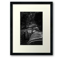 Tiny Town Train Ride Framed Print