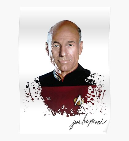 Star Trek Splatter Portrait - Archer Poster