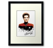 Star Trek Splatter Portrait - Archer Framed Print