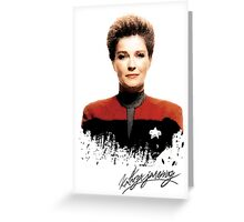 Star Trek Splatter Portrait - Janeway Greeting Card