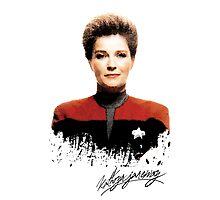 Star Trek Splatter Portrait - Janeway Photographic Print
