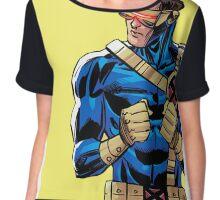 X Men Cyclops Yellow Chiffon Top
