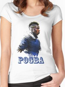 paul pogba celebration Women's Fitted Scoop T-Shirt