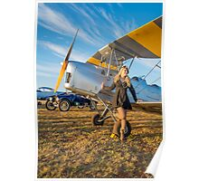 Tiger Moth And The Lady Poster