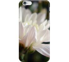 White flower macro. iPhone Case/Skin