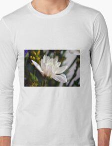 White flower macro. Long Sleeve T-Shirt