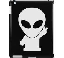 Space Alien Tees Cartoon Mascot  iPad Case/Skin