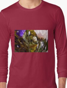 Natural background with flowers and green leaves. Long Sleeve T-Shirt