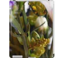 Natural background with flowers and green leaves. iPad Case/Skin