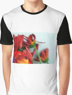 Natural composition with red petals. Graphic T-Shirt
