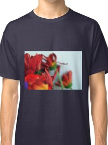 Natural composition with red petals. Classic T-Shirt