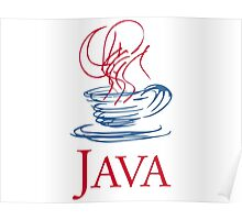 java classic programming language sticker Poster