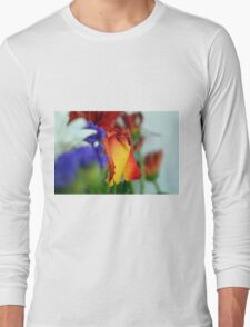 Close up on flower petals. Long Sleeve T-Shirt