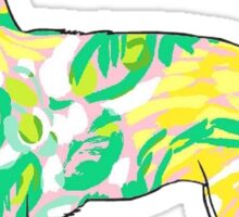 Chihuahua Sticker Lilly Pulitzer Inspired Print Vinyl Decal Sticker
