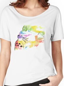 rainbow painting totoro Women's Relaxed Fit T-Shirt