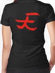 "Akuma ""Heaven"" Kanji Women's Fitted V-Neck T-Shirt"