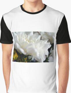 White flower macro. Graphic T-Shirt