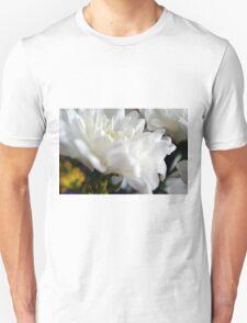 White flower macro. Unisex T-Shirt