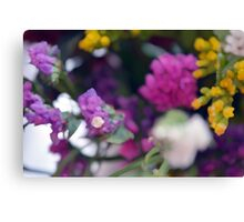 Watercolor style painted colorful flowers. Canvas Print