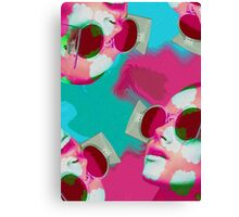 WIRD GLASSES Canvas Print