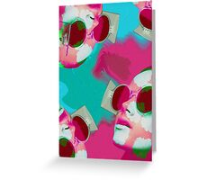 WIRD GLASSES Greeting Card