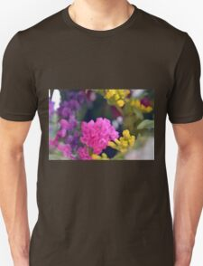 Watercolor style painted colorful flowers. Unisex T-Shirt