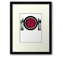 Brains for Dinner 2 Framed Print