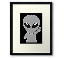 Space Alien Tees Cartoon Mascot (2) Framed Print