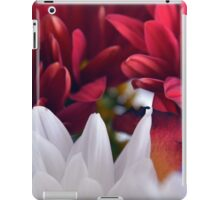 White and red flower petals, delicate natural background. iPad Case/Skin
