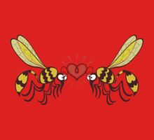 Couple of beautiful wasps deeply falling in love Kids Tee