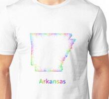 Rainbow Arkansas map Unisex T-Shirt