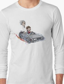 Calvin and Hobbes Back Future Long Sleeve T-Shirt