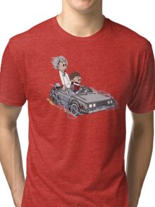 Calvin and Hobbes Back Future Tri-blend T-Shirt