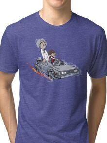 Calvin and Hobbes Back Future Tri-blend T-Shirt