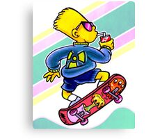Cool Nuclear Bart Canvas Print