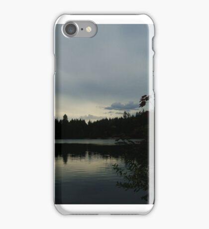 Cloudy sky silhouette iPhone Case/Skin