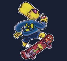 Cool Nuclear Bart Kids Tee