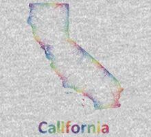 Rainbow California map One Piece - Long Sleeve