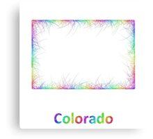 Rainbow Colorado map Canvas Print